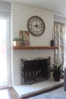Midcentury contemporary fireplace